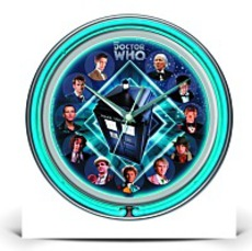 Specials Doctor Who Double Neon Wall Clock