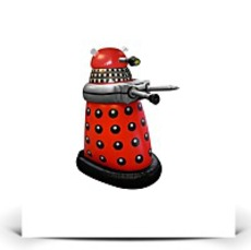 Small Inflatable Red Dalek